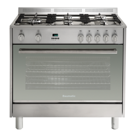 Baumatic 90cm Dual Fuel Freestanding Cooker