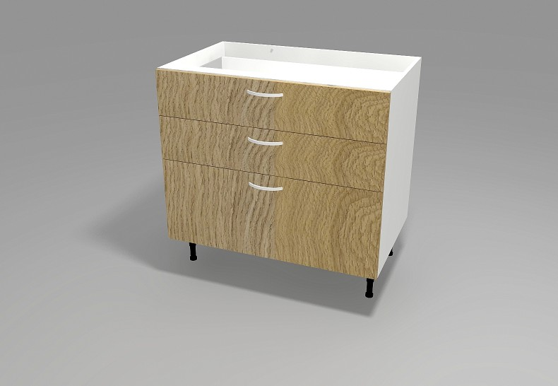 Floor 3 Drawer Cabinet