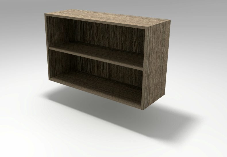 Wall Open Shelf Cabinet