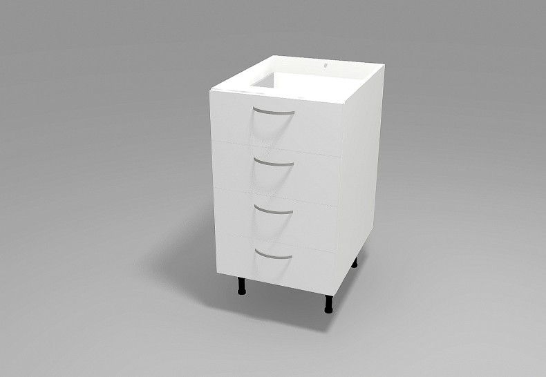 Floor 4 Drawer Cabinet